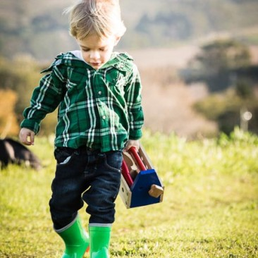 A little boy on a mission during our shoot