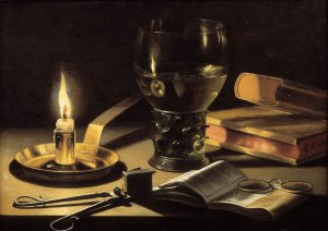 Still Life with Burning Candle, Pieter Claesz 1962
