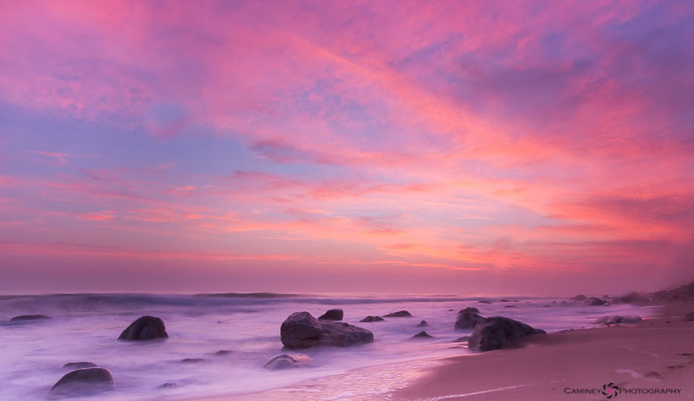 How amazing are these colours? I almost toned them down in post processing, they looked so unreal; but that is how the sky looked. The long exposure makes it easier to capture dramatic skies. Shot at f20, 2.5 seconds.