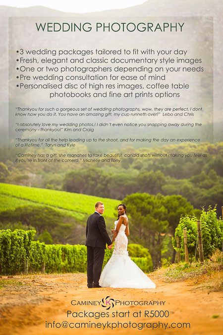 Cape Town Wedding Photographer 2014/15